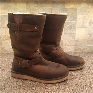 Kensington brown Leather Ugg boots